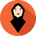 A girl with black veil and orange background Royalty Free Stock Image