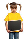 Girl with blackboard Stock Photography