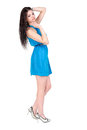 Girl in blue dress Stock Photo