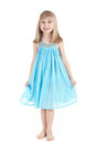 The girl in a blue dress Royalty Free Stock Image