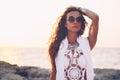 Girl in boho style