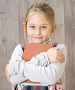 Girl with a book portrait of Royalty Free Stock Photos
