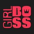 Girl boss lady business logo