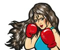 Girl boxing pop art comic stock vector Royalty Free Stock Photo
