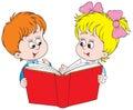 A chlapec čítanie kniha