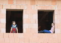 Girl And Boy In The Windows