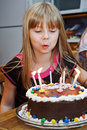 Girl Brithday Cake Candles Royalty Free Stock Photo