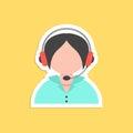 Girl call center avatar sticker