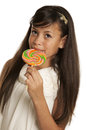 Girl with candy years old Stock Photography