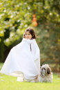 Girl in cape Royalty Free Stock Images