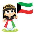 Girl Celebrates Kuwait National Day