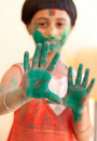 Girl celebrating Holi Royalty Free Stock Image
