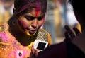 Girl celebrating holi indian festival Stock Photography