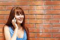 Girl with cellular phone Royalty Free Stock Photo