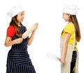 Girl chef cook Stock Photography