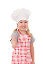 Girl in chef's hat Stock Images