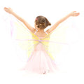 Girl child in kids butterfly ballerina costume Royalty Free Stock Photo