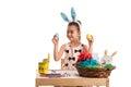 Girl Choose Easter Egg
