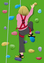 Girl climbing Royalty Free Stock Image