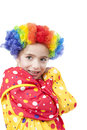 Girl in clown costume Stock Photography