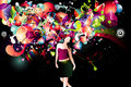 Girl color vector composition Royalty Free Stock Photo