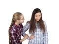 Girl comforts girlfriend Royalty Free Stock Photo
