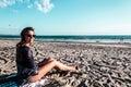 Girl At Coronado Beach, San Di...