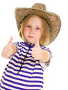 Girl cowboy Royalty Free Stock Images