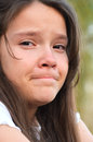 Girl crying portrait of a teenage Royalty Free Stock Image