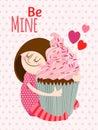 Girl with cupcake.
