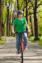 Girl cycling Stock Photography