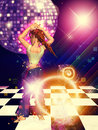 Girl on dance floor Royalty Free Stock Images