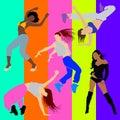 Girl dancer athletic club clubbers clubbing