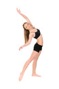 Girl dancer in movement Royalty Free Stock Photo