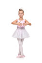 Girl dances ballet Royalty Free Stock Photo