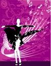 Girl dancing vector Stock Photos