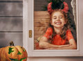 Girl in devil costume Royalty Free Stock Photo