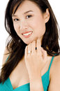 GIrl With Diamond Ring Royalty Free Stock Photography