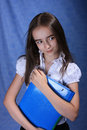 Girl with document case Stock Image