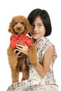 Girl & dog Royalty Free Stock Photography