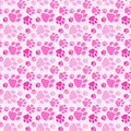 Girl Dog Paw Prints Seamless Background Royalty Free Stock Photo