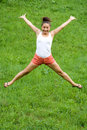 Girl doing exercises Stock Images
