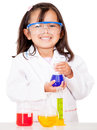Girl doing experiments Stock Photos