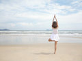 girl doing yoga Royalty Free Stock Photo
