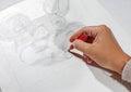 Girl draws sketch