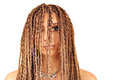 Girl with dreadlocks hair portrait Stock Image