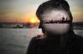 image photo : Girl dreams of St.-Petersburg