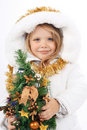 Girl in the dress of a Snow Maiden Royalty Free Stock Photography