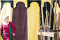 Girl dressed as a medieval lady on colored background crevalcore italy may people in costumes walks among the tents of an Stock Photos