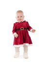 Girl dressed as santa insulation isolation Stock Photography